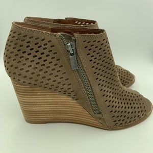 Lucky Brand Peep Toe Booties!